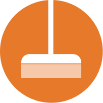 icon round janitorial