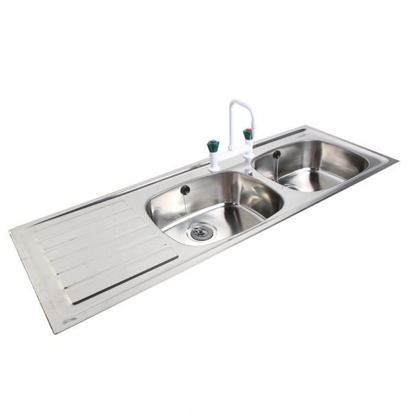 Troy Inset Sink 1364mm x 500mm Double Bowl, Single Drainer-0