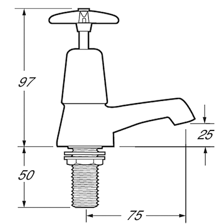 Worth standard cross head taps-1952