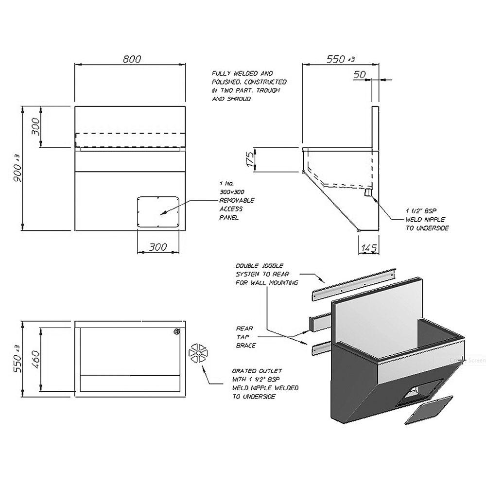 Abaco european style scrub sink-2390