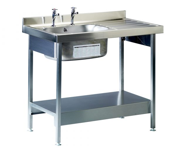 Burgundy Catering Sink 600mm Wide and Stand-0