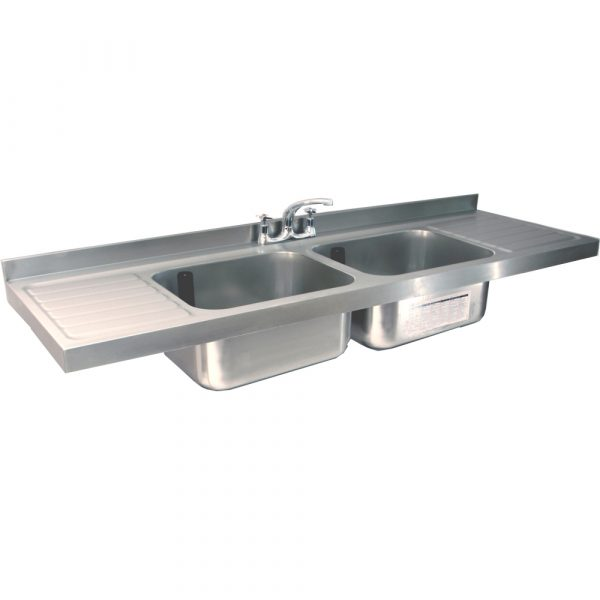 Burgundy Catering Sink 600mm Wide-0