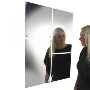 Cadiz Stainless steel mirror (600mm x 450mm)-0
