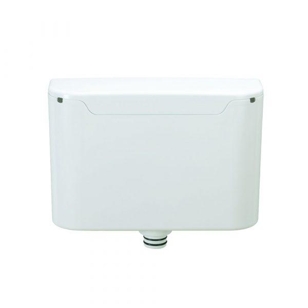 Calvi2 Single flush pneumatic push cistern and fallpipe-0