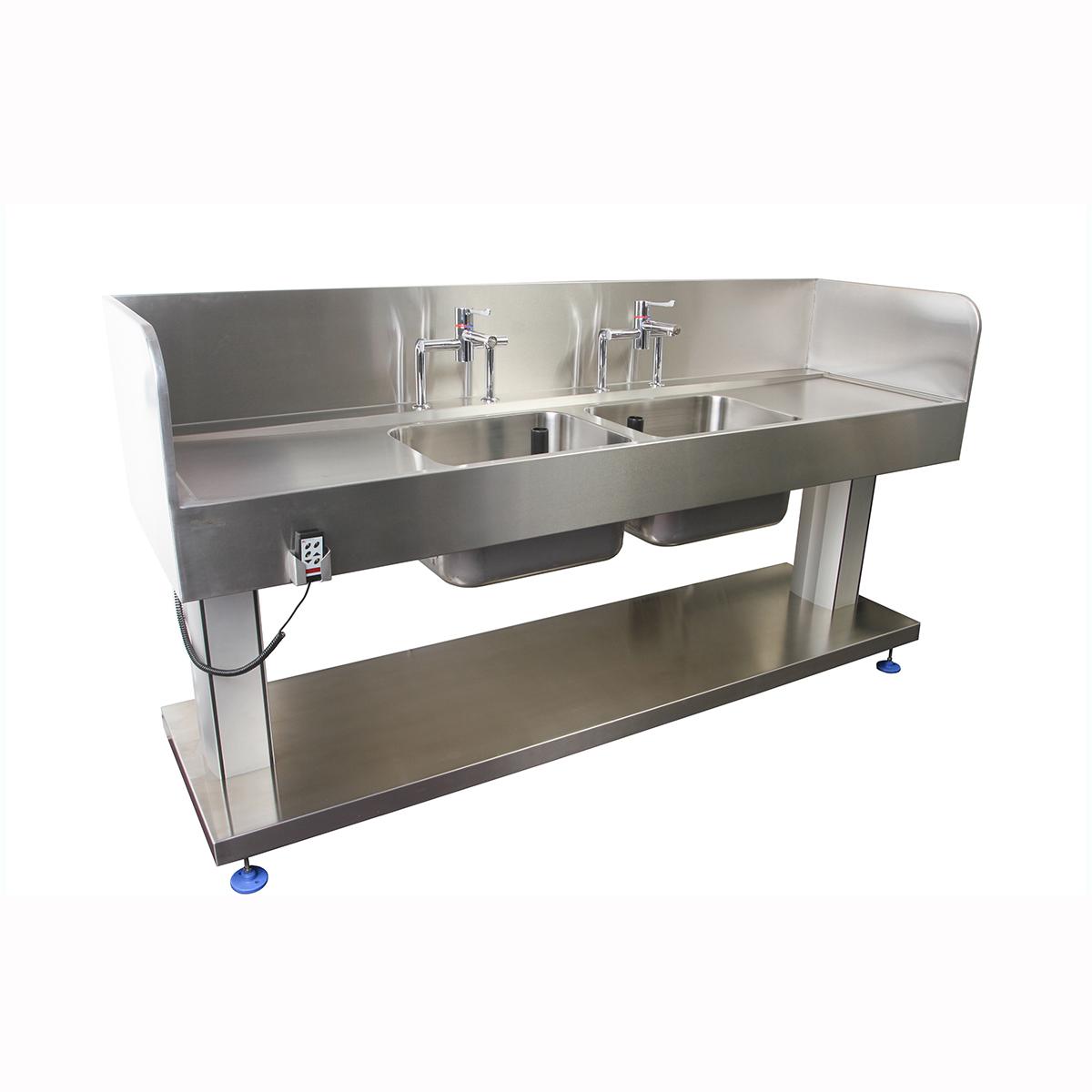 Corsica High Splash Back Height Adjustable Sink-0
