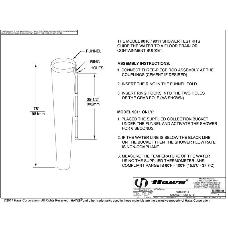 Arbon ANSI Shower and Eyewash Testing Kit-2746